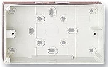 MK] (eléctrica) 2183WHI superficie de PVC caja 2-GANG 1X expulsar ...
