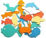 Badesticker Badespielzeug - Moosgummi Tiere Motiv Wasser Stärke 0,8cm - 15 Stück NEU&Originalverpackt