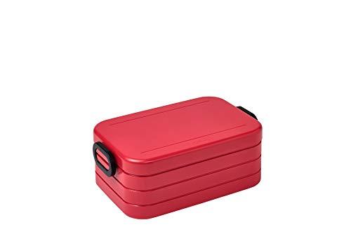 Mepal Take a Break Midi - Nordic Red - 900 ml - Fiambrera con divisor - Ideal para Mealprep - Apto para lavavajillas - ABS