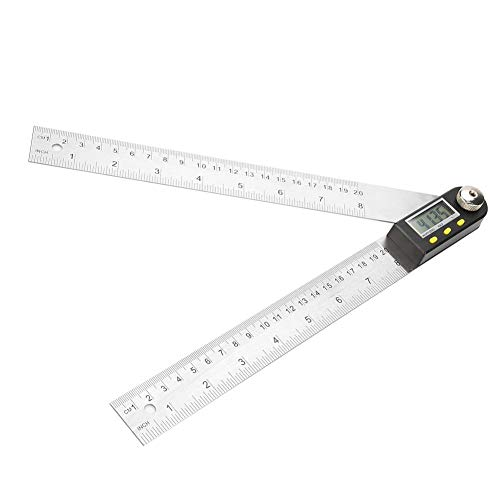 Electronic Goniometer Angle Finder - 0-200mm Stainless Steel Electronic Protractor Digital Goniometer Angle Finder Miter Gauge Ruler