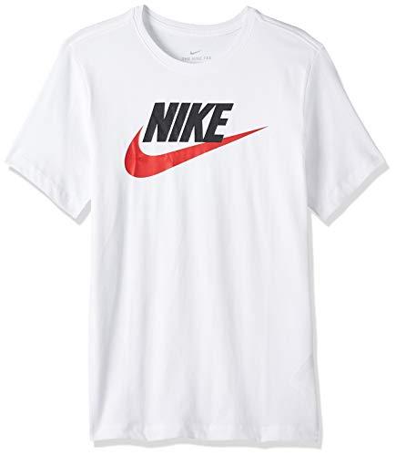 Nike Sportswear Icon Futura, T-Shirt Uomo, Bianco (White/Black/University Red 100), Medium