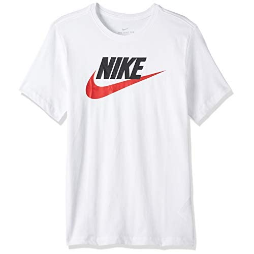 Nike Sportswear, T-Shirt Uomo, White/Black/(University Red), L