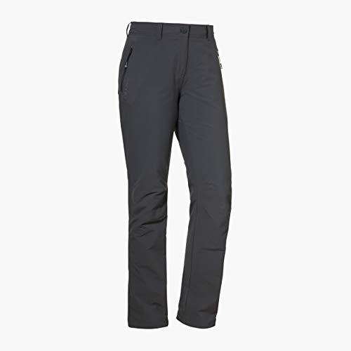 Schöffel Damen Pants Engadin W warme und wasserabweisende Wanderhose für Frauen, komfortable Outdoor Hose mit weichem Futter und höchstem Komfort, charcoal, 40