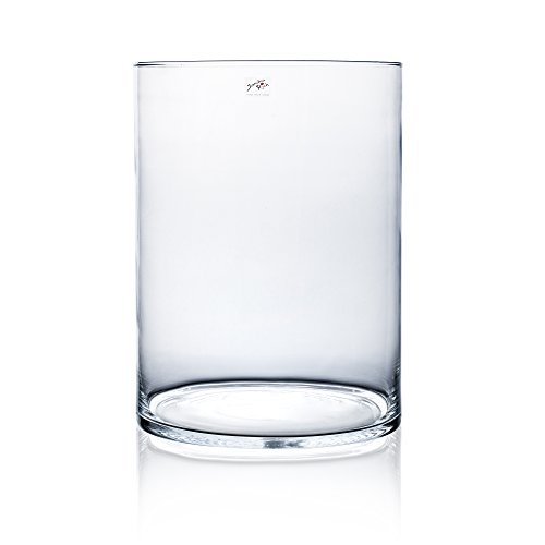 Glasvase CYLI klar zylindrisch 40 cm Ø 30 cm von Sandra Rich