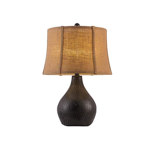 Lampes QY de Table de Style américain Style européen Retro Classique Chambre de Luxe de Chambre à Coucher de Chevet Salle d'art Chinoise en Bois Massif de Chevet