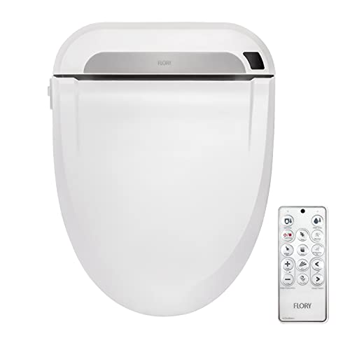 FLORYEU Bidet Electric Digital Intelligent Toilet Seat FDB608 Integrated Functions,Remote Control,Energy-Saving Technology,Eco-Friendly,Water & Seat Heater,Warm Wind & Air Dry-Normal
