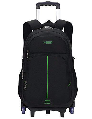 Zaino con ruote - Borsa da viaggio durevole con rotelle Daypack Borsa da viaggio con eleganti borse Daypack rimovibili (6 ruote)