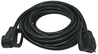 Road Power 65039601 25' 10/3 30-Amp Extension, Heavy Duty, Weather Resistant RV and Marine Boat Power Cord Suitable for Mobile Homes and Recreational Areas, Black