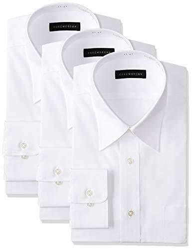 [コナカ] 形態安定加工/お好みで好きなセットが選べるビジネスワイシャツ3枚セット/オールシーズン/レギュラーシルエット【少しゆったり】/選べるバリエーション【レギュラーカラー/ボタンダウン/ワイドカラー】/メンズワイシャツ YS-BAN-3SET 白無地(レギュラー) 首回り41cm裄丈78cm (日本サイズL相当)