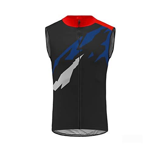 Uglyfrog® Weste Radweste Ärmellos Trikots & Shirts Jacke Tour de France Cycling Vest Atmungsaktiv für Fahrrad MTB, Schwarz 2XS-6XL