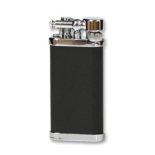 Feuerzeug IM Corona Old Boy für Pfeifen aus Chrom Lack in schwarz matt silber glänzend