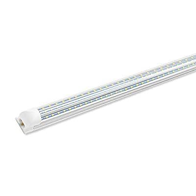 4FT LED Shop Light Fixture, 45W, 5400LM High Output, 6000K Cool White T8 LED Tube Light, Linkable LED Garage Light for Garage, Workshop, Basement, Plug and Play (1-Pack)