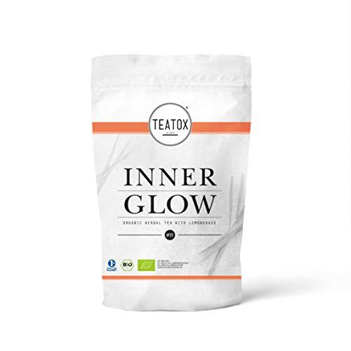 TEATOX Bio-Kräutertee INNER GLOW für strahlend guten Teegenuss | loser Tee mit Apfel, Lemongras & Ringelblumenblüten | 100 % biologisch & vegan, ohne Aromen & Zusätze | 70 g im Ziplock-Beutel