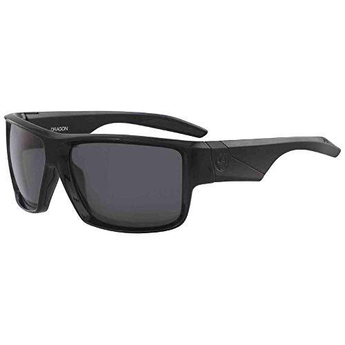 Draak, zwart, glanzend, gepolariseerd, Lumalens Smoke 41899-001 Deadlock zonnebril, vierkant
