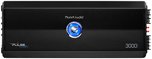 Planet Audio PL3000.2 2 Channel Car Amplifier - 3000 Watts, Full Range, Class A/B, 2/8 Ohm Stable, Mosfet Power Supply, Bridgeable