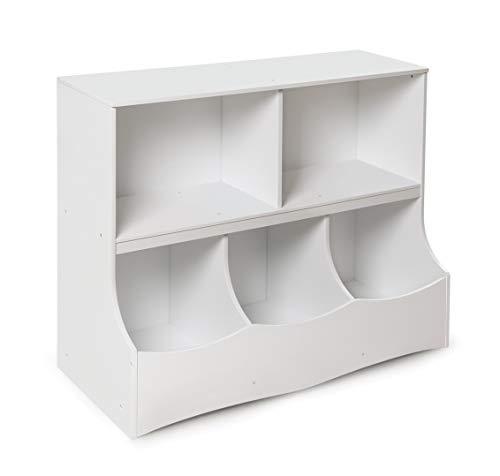 Badger Basket Multi-Bin Storage Cubby, White
