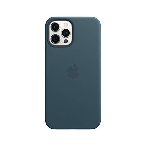 Apple Leder Hülle mit MagSafe (für iPhone 12 Pro Max) - Baltischblau - 6.7 Zoll