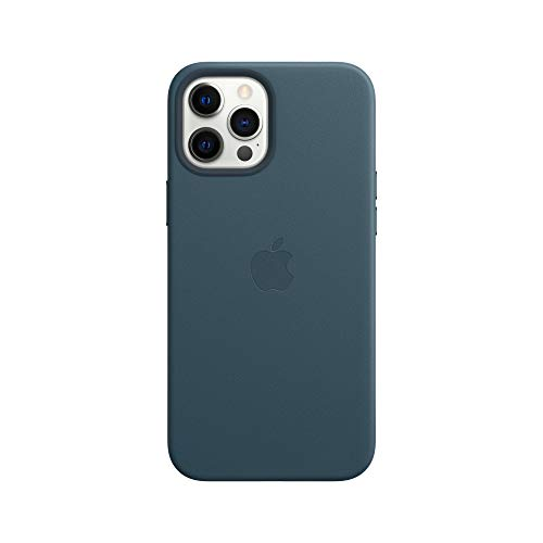 Apple Leather Case with MagSafe (for iPhone 12 Pro Max) - Baltic Blue