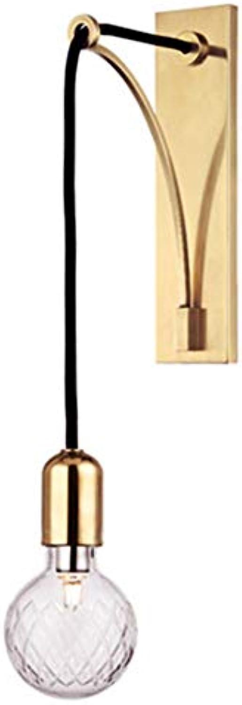 Einfache moderne Wandleuchten aus Eisenglas LED kreative Lampe Nachttischlampe Wandlampen-Innenbeleuchtung