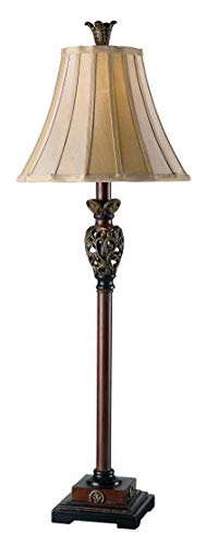 Kenroy Home 20182GR Iron Lace Buffet Lamp, Golden Ruby