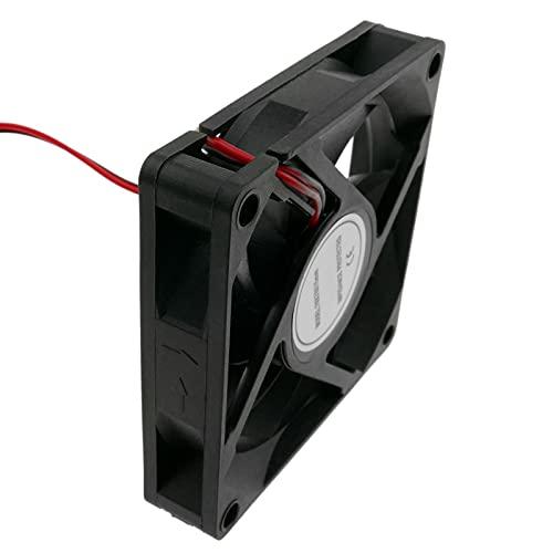 BeMatik - Ventilador de chasis 70x70x15 mm de 12 VDC para caja de ordenador 2600 RPM
