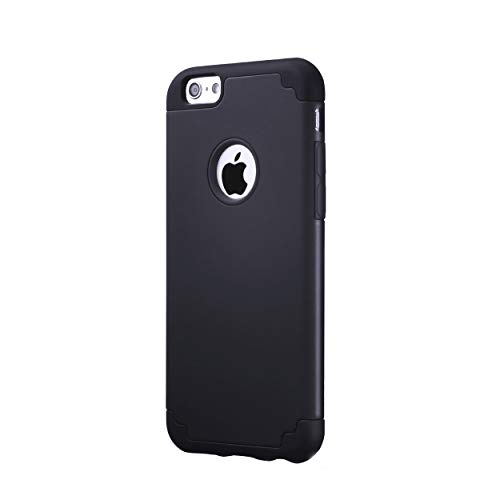 Ailun Phone Case for iPhone 6s iPhone 6 Soft Interior Silicone Bumper Hard Shell Solid PC Back Shock Absorption Skid Proof Anti Scratch Hybrid Dual Layer Slim Cover Black
