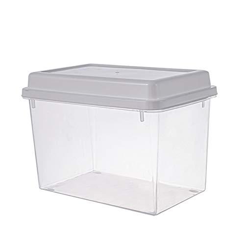Recipientes de almacenamiento de alimentos frescos, conserva los productos frescos sin BPA con rejillas de ventilación, recipientes de verduras para ensaladas de frutas en el refrigerador (2 PCS)