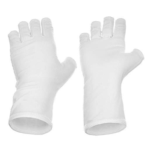 NIDONE Guantes 1pair Nails UV Pantalla Guante Guante De Protección contra Los Rayos UV Bloqueador Solar Escudo De Conducción Manicura del Arte del Clavo Secador De Herramientas