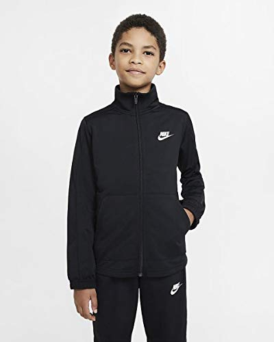 Nike DD0324-010 U NSW HBR POLY TRACKSUIT Trainingsanzug Unisex - Kinder Black/Schwarz/Weiß XL