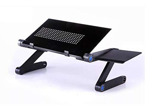 CDwxqBB laptophouder, opvouwbaar, bureau voor laptop, muismat afneembaar en in hoogte verstelbaar voor laptop, opvouwbaar van 7 tot 15,6 inch, A