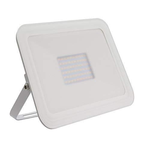 LEDKIA LIGHTING Foco Proyector LED 50W 120lm/W Slim Cristal Blanco Blanco Cálido 3000K - 3500K