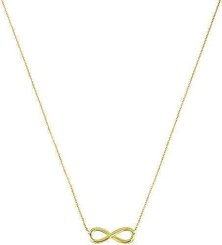 14  Gelb Gold Infinity Halskette Karabinerverschluss L e Optionen  41