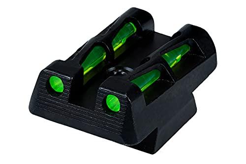 HiViz CZ Lite Wave Rear Sight Handgun, Green, Red, Black, One Size