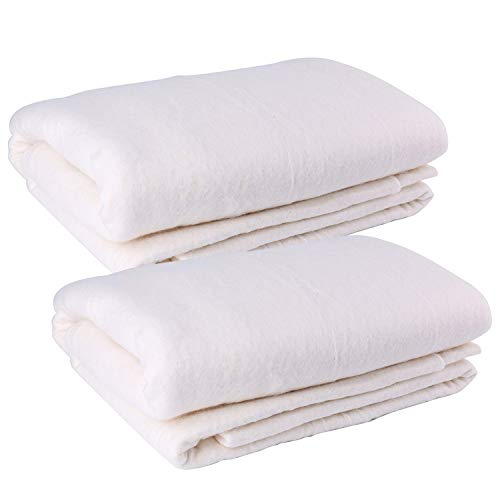 Tosnail Pack of 2 Sheets 45-Inch x 60-Inch Soft Natural Cotton Batting for Quilts, Craft and Wearable Arts