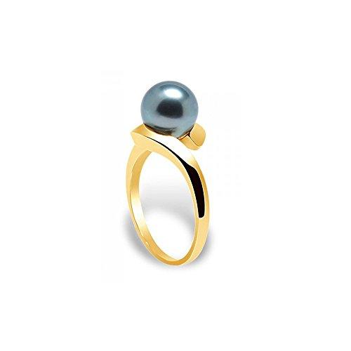 Ring Tahiti-Perle und Gelbgold 375/1000 - Blue Pearls - 54 BPS K405 W