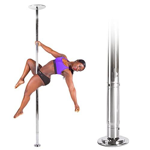 X-Pole XPert 45 mm Chrom Spinning Pole Dance Stange - Die Tanzstange der Profis - Inklusive PoleSports Mikrofasertuch