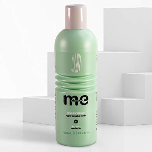 MeMademoiselle Haar-Shampoo für trockene Kopfhaut | Das vegane Eco Haarshampoo für sensible Kopfhaut ohne Silikone und Parabene | Shampoo für Damen und Herren (1000ml)