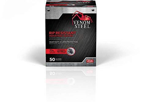Venom Steel Premium Industrial Nitrile Gloves, Black