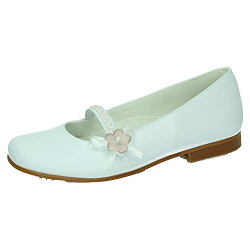 Bambinelli 5235 Comunión Flor Bambi Niña Zapato Comunión Blanco 35