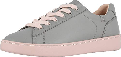 Vionic Women's Pro Mahoney Mable Slip-on - Ladies Water Resistant Slip Resistant Professional Service Shoes with Concealed Orthotic Arch Support Grey Pink 7 Medium US