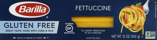 BARILLA Gluten Free Fettuccine, 12 Ounce - Non-GMO Gluten Free Pasta Made with Blend of Corn & Rice - Vegan Pasta