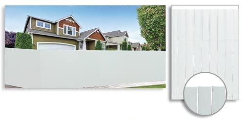 TIENDA EURASIA® Cañizo Artificial de PVC para Jardín - Malla de Ocultación de PVC - Fácil Instalación - Medidas 100-150 x 300 cm (150 x 300 cm, Blanco)