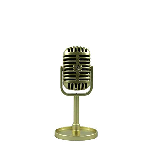 ABMBERTK Classic Retro Dynamic Vocal Microphone ,Vintage Style Mic,Universal Stand Compatible,for Live Performance Karaoke,Gold