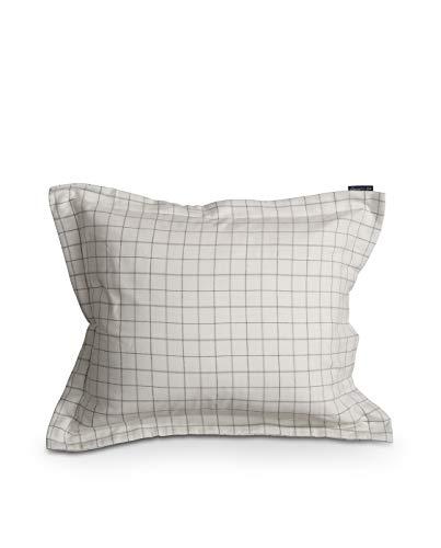 Lexington Kissenbezug, 95 % Baumwolle, 5 % Kaschmir, 50 x 75 cm, weiß/grau kariert