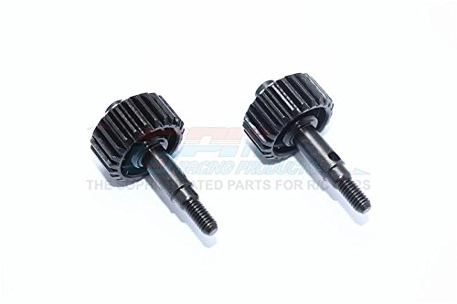 for Traxxas TRX-4 Trail Defender Crawler Upgrade Parts Stainless Steel #45 Portal Drive Output Spindle Gear 23T - 2Pc Set Black