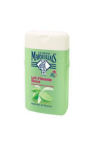 Il piccolo marsigliese doccia crema extra morbido Latte Mandorla Dolce 250ml–Set di 4