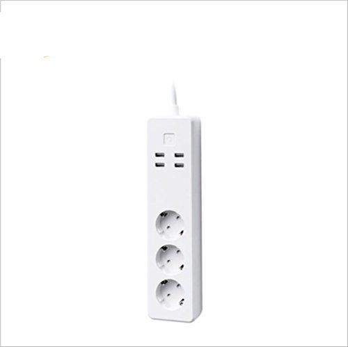 Smart Power Strip Smart Socket Mini Smart Plug Wifi-fähige Fernbedienung von überall Wifi-Netzwerke Netzschalter App Timeout-Funktion Europa-Verordnung