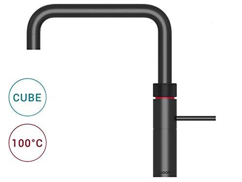 Quooker COMBI+ 2.2 E & CUBE Fusion Square schwarz Sprudel- & Kochendwassergerät