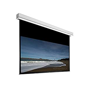 Monoprice Ceiling Recessed Motorized Projection Screen (Somfy Motor) w/ IR Remote - Matte White Fabric (120 inch, 16:9)
