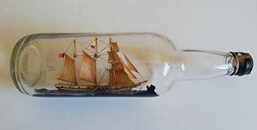 Desconocido Barco DE Vela Dentro DE Botella/ANTIGUEDAD/AÑO 1900 Aprox (Cristal, 28)